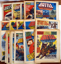 Collection of 51 Battle comics 1979