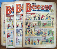 Collection of 17 Large Format Beezer Comics (1972)