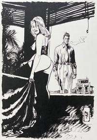 Return from The Bar art by Jordi Bernet