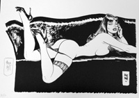 Reclining Nude art by Jordi Bernet
