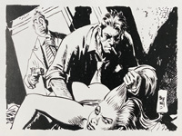 Caught art by Jordi Bernet