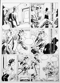 Torpedo original comic art page art by Jordi Bernet