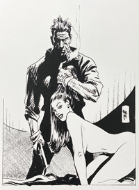 Torpedo's beautiful hostage art by Jordi Bernet