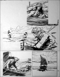 Black Bartlemy's Treasure - Open Boat (TWO pages) art by Jesus Blasco