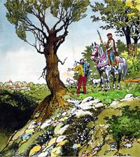 Sleeping Beauty - Journey Through The Forest art by Jesus Blasco