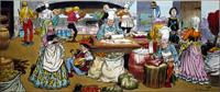 Sleeping Beauty - A Wedding Feast Is Ordered art by Jesus Blasco
