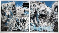 Wagon Westward: Broken Wheel art by Jesus Blasco