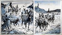 Wagon Westward: Cattle art by Jesus Blasco