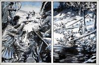Wagon Westward: Under Fire art by Jesus Blasco