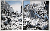 Wagon Westward: Raging River art by Jesus Blasco