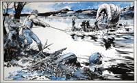 Wagon Westward: Perilous Crossing art by Jesus Blasco