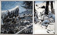 Wagon Westward: Through The Storm art by Jesus Blasco
