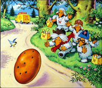 The Wombles - Happy Easter art by Jesus Blasco