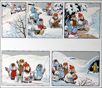 The Wombles - Winter Wilderness art by Jesus Blasco