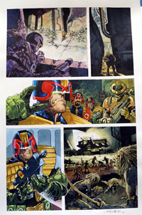 Judge Dredd Eaters of the Dead page 9 art by John M Burns