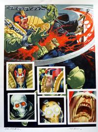 Judge Dredd Master of Fear part 3 page 2 art by John M Burns