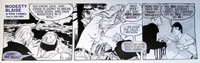 Modesty Blaise daily strip 4570 by John M Burns