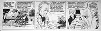 Modesty Blaise daily strip 4678 by John M Burns