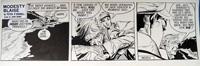 Modesty Blaise daily strip 4692a art by John M Burns