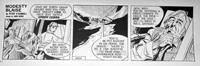 Modesty Blaise daily strip 4697 art by John M Burns
