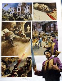 Nikolai Dante The Beast of Rudinshtein (THREE pages) art by John M Burns