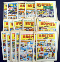 Collection of 46 Buster comics 1972
