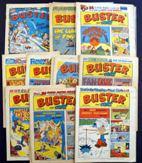 Collection of 28 Buster comics 1975