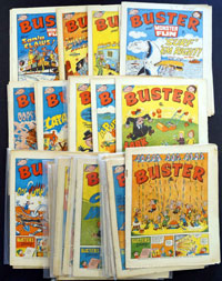 Collection of 43 Buster comics 1976