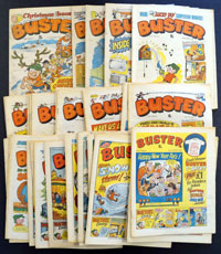 Collection of 44 Buster comics 1980