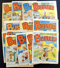 Collection of 28 Buster comics 1984