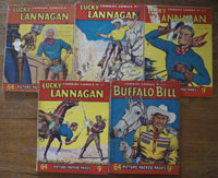 Collection of 5 Cowboy Picture Library comics (1954)