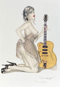 Guitar art by Giovanna Casotto
