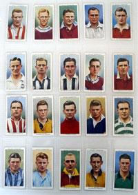 Association Footballers  Full set of 50 cards (1939)
