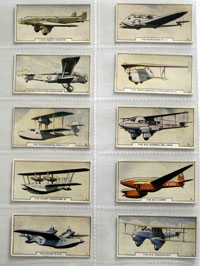 Full Set of 54 Cigarette Cards: Aircraft (1936) by Various