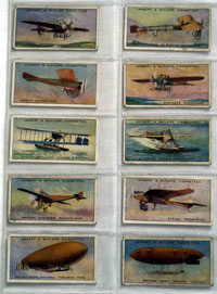 Full Set of 25 Cigarette Cards: Aviation (1915) by Various