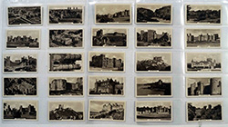 Full Set of 25 Cigarette Cards Castles (1939)