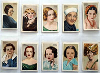 Full Set of 48 Cigarette Cards: Champions of Screen and Stage (1934) by Various