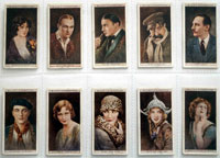 Full Set of 50 Cigarette Cards: Cinema Stars (1926) by Various