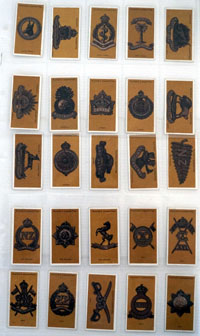 Colonial & Indian Army Badges  Full set of 25 cards (1916)