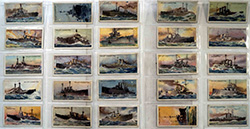Full Set of 25 Cigarette Cards The World's Dreadnoughts (1910)