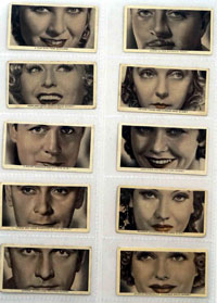 Who Are These Film Stars?  Set of 49 of 50 Cigarette Cards (1936)