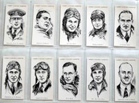 Full Set of 50 Cigarette Cards: Famous Airman and Airwomen (1936) by Various