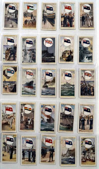 Full Set of 25 Cigarette Cards Flags of the Empire second series (1929)