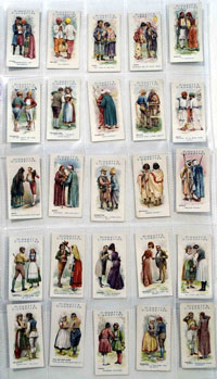 Full Set of 25 Cigarette Cards Greetings of the World (1907)