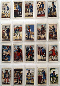Full Set of 50 Cigarette Cards History of Naval Dress (1930)