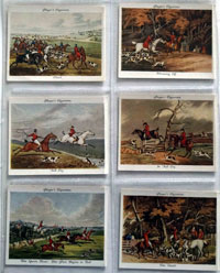 Full Set of 25 Cigarette Cards: Old Hunting Prints (1938) by Various