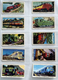 Full Set of 16 Cigarette Cards: The Story of the Locomotive (1965) by Various
