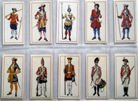 Full Set of 50 Cigarette Cards: Military Uniforms (1976) by Various
