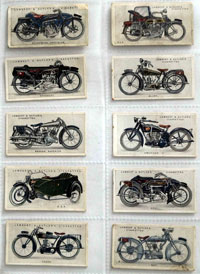 Full Set of 50 Cigarette Cards: Motor Cycles (1923) by Various