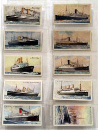 Full Set of 50 Cigarette Cards Merchant Ships of the World (1924)